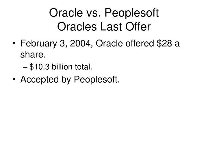 Oracle vs. Peoplesoft