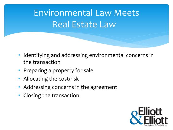 Environmental law meets real estate law