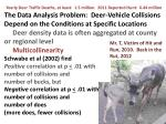 deer location and density is aggregated often at the county level