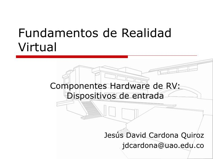 fundamentos de realidad virtual n.