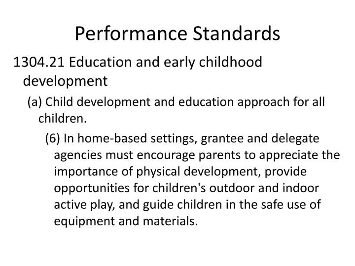 Performance Standards