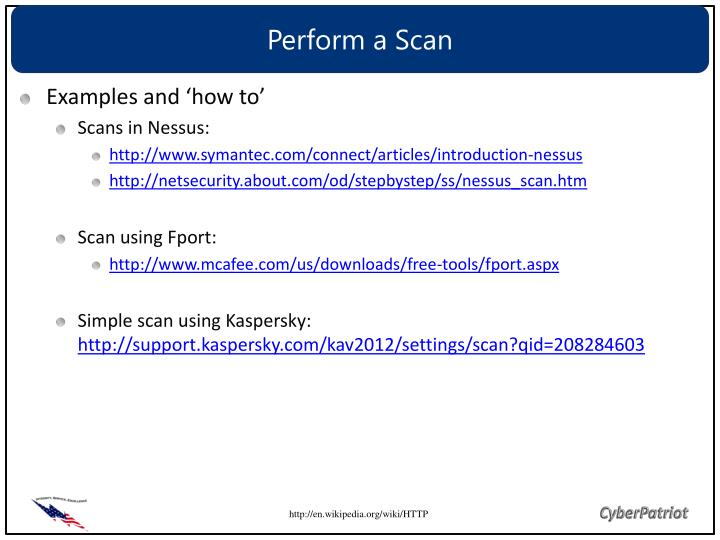 Perform a Scan