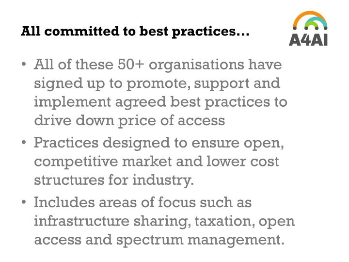 All committed to best practices…