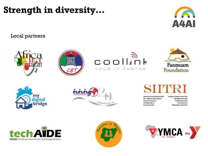 Strength in diversity…