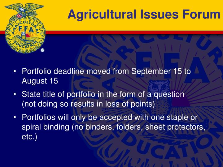 Agricultural Issues Forum