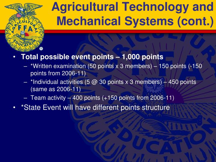 Agricultural Technology and Mechanical