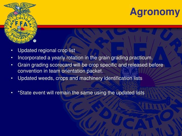 Agronomy