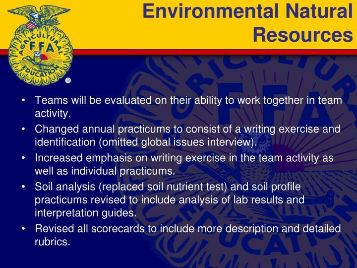 Environmental Natural Resources
