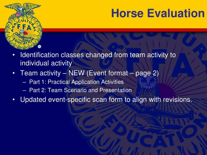 Horse Evaluation