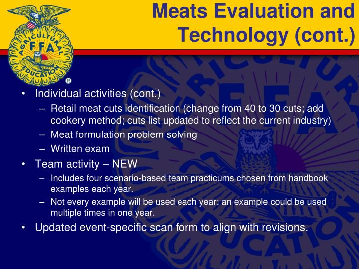 Meats Evaluation and