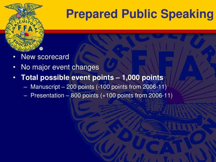 Prepared Public Speaking