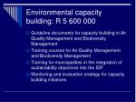 environmental capacity building r 5 600 000