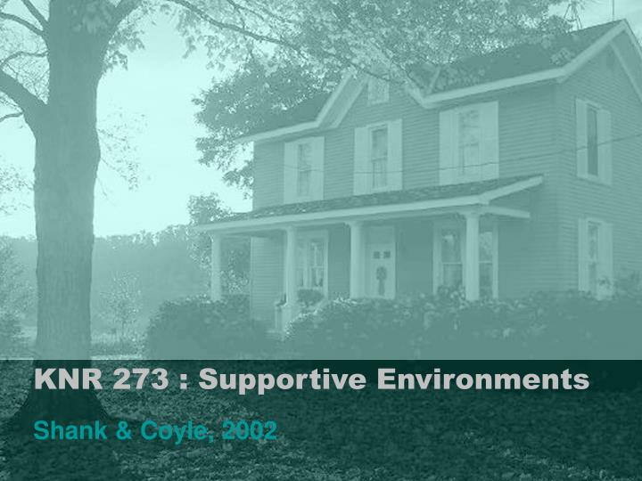knr 273 supportive environments n.