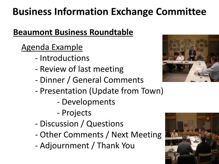 Business Information Exchange Committee