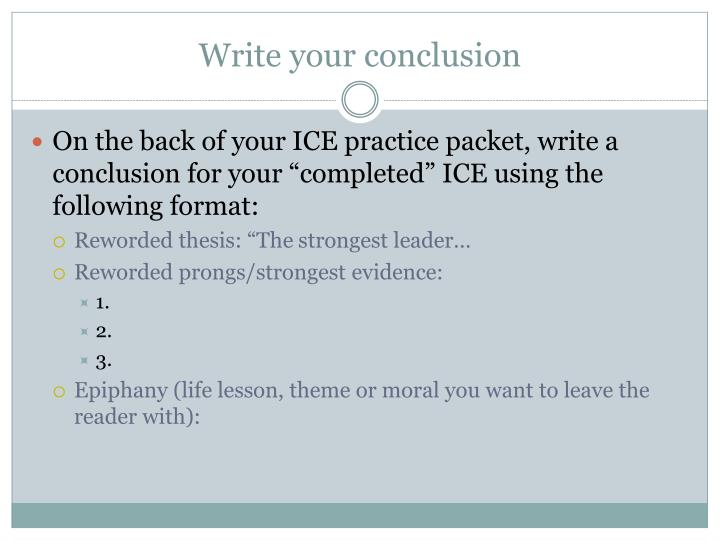 write your conclusion n.