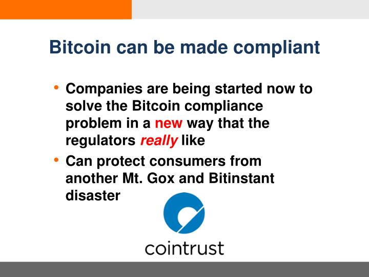 Bitcoin can be made compliant