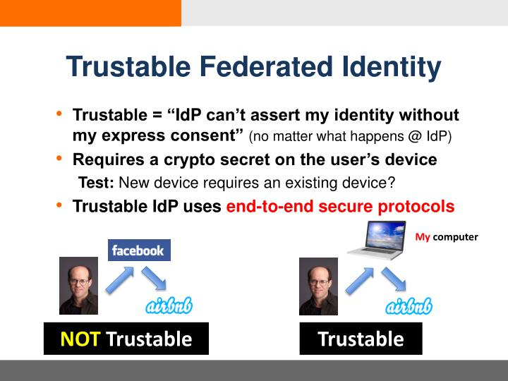 Trustable Federated Identity