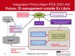 integration primo aleph pds sso aai future id management outside ex libris