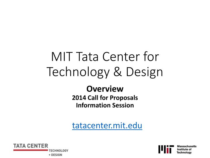mit tata center for technology design n.
