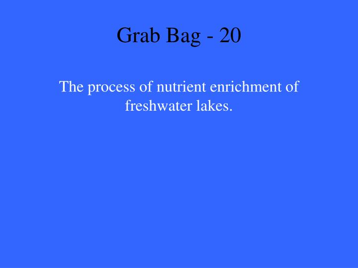 Grab Bag - 20