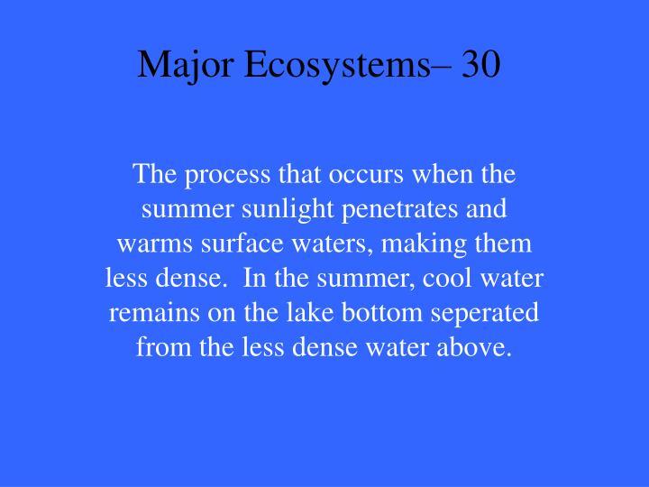 Major Ecosystems– 30