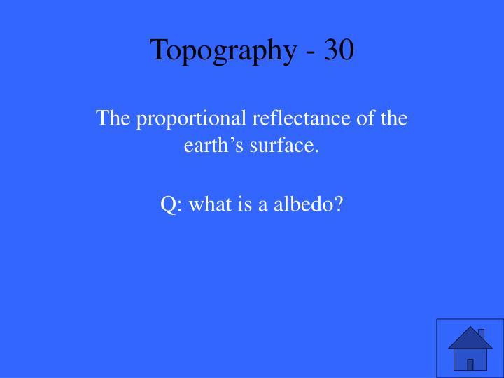 Topography - 30