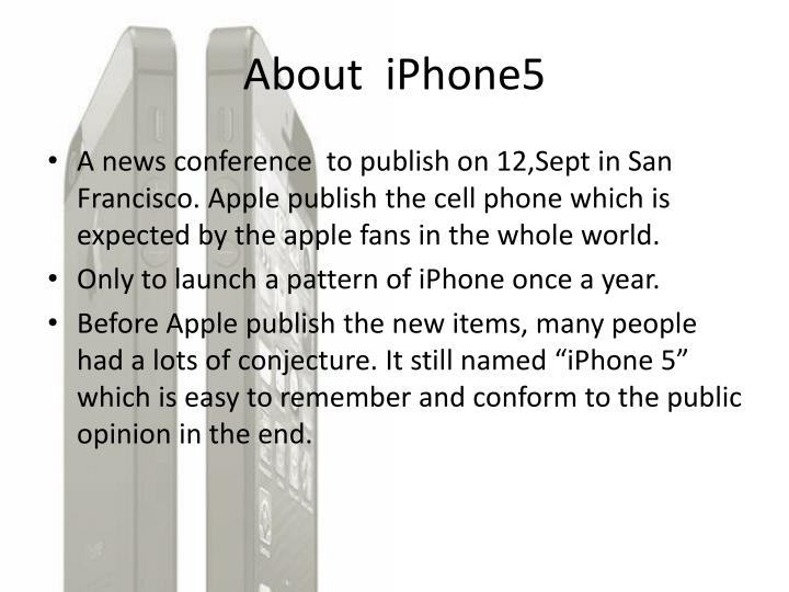 About iphone5