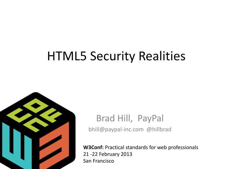 html5 security realities n.