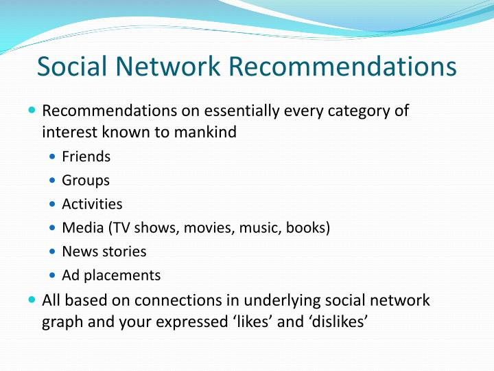 Social Network Recommendations