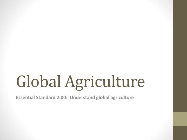 global agriculture n.