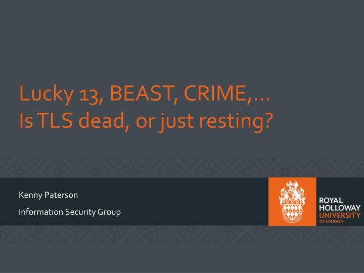 lucky 13 beast crime is tls dead or just resting n.