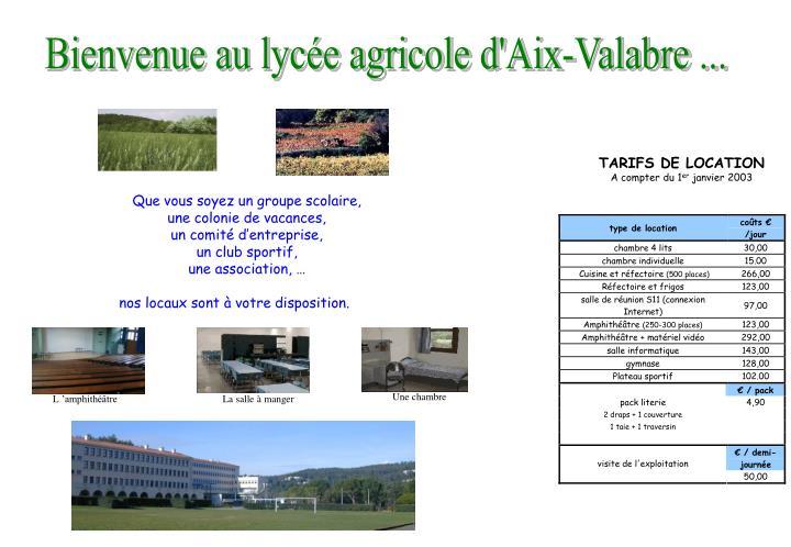 Bienvenue au lycée agricole d'Aix-Valabre ...