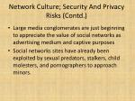 network culture security and privacy risks contd