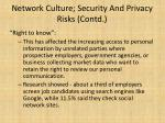network culture security and privacy risks contd1