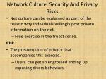 network culture security and privacy risks