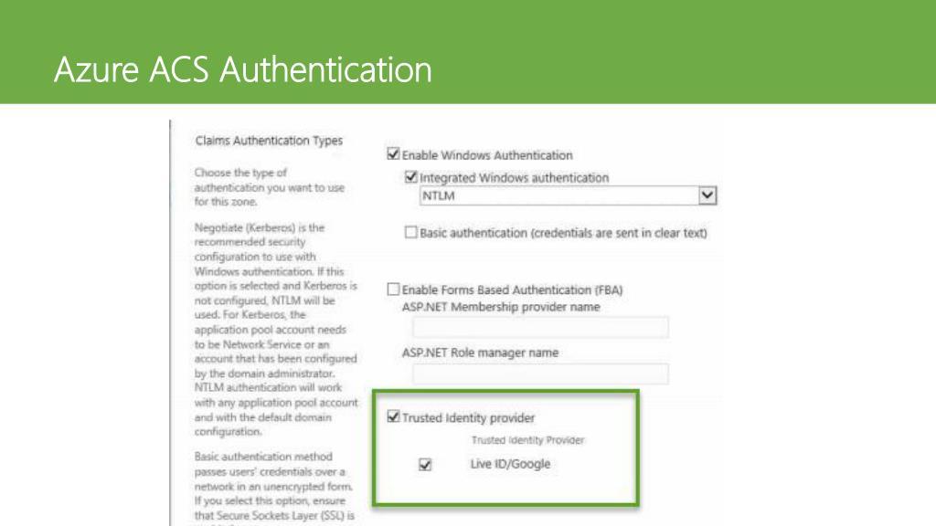 PPT - SharePoint External Login Access – Forms