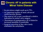 chronic af in patients with mitral valve disease