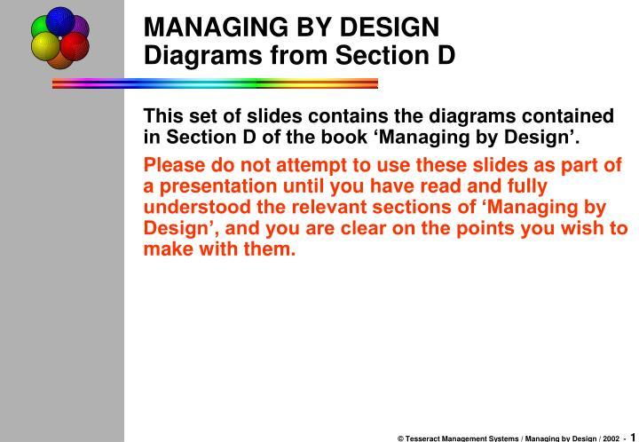 managing by design diagrams from section d n.