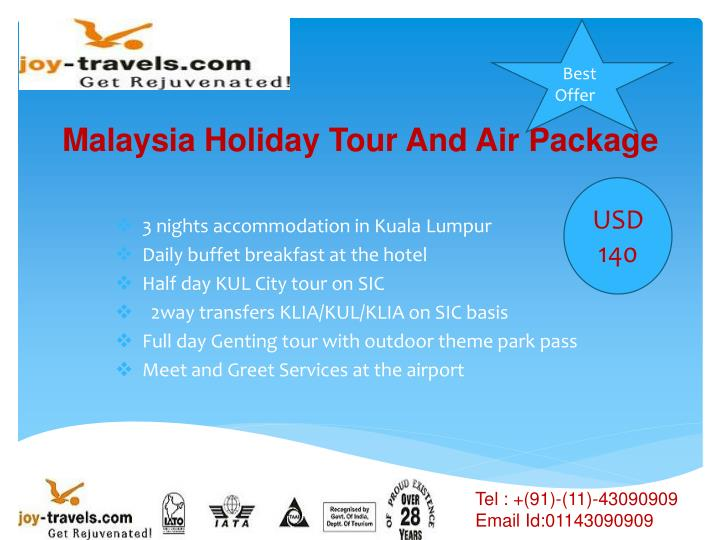 malaysia holiday tour and air package n.