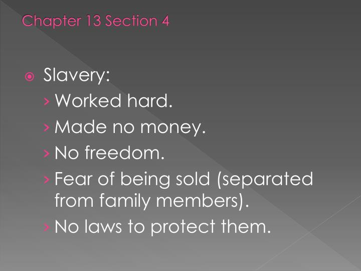 Chapter 13 Section 4