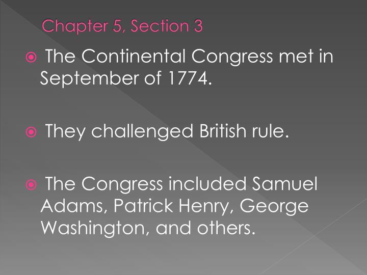 Chapter 5, Section 3
