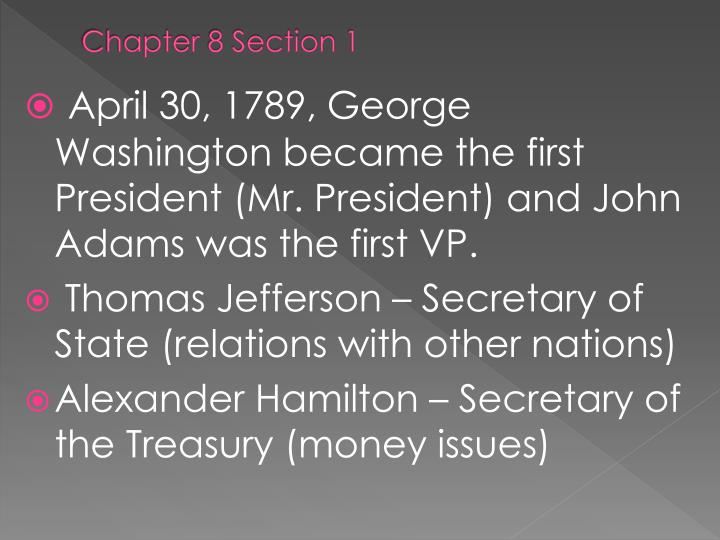 Chapter 8 Section 1
