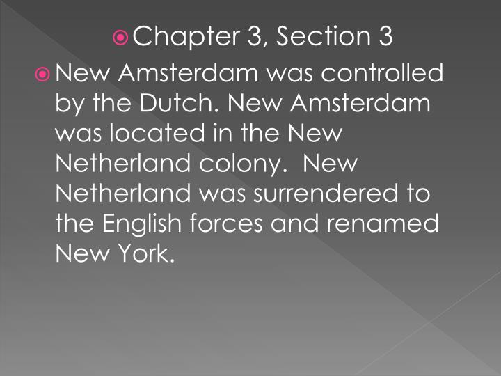 Chapter 3, Section 3