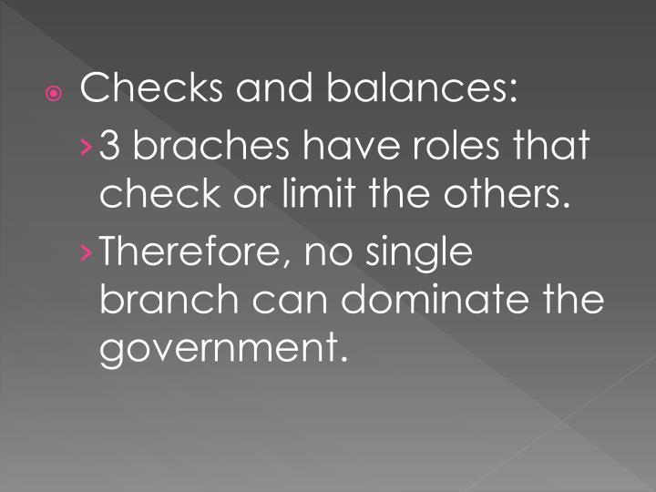 Checks and balances: