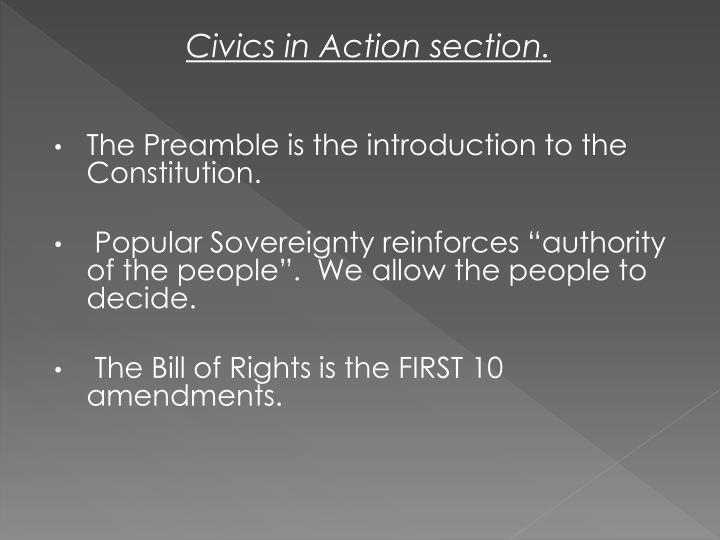 Civics in Action section.