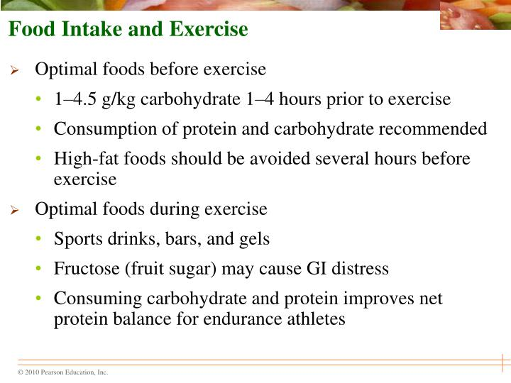 Food Intake and Exercise