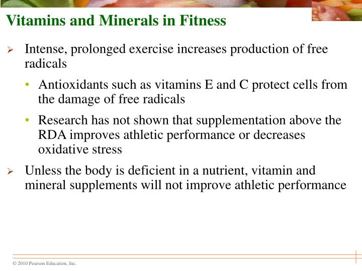 Vitamins and Minerals in Fitness