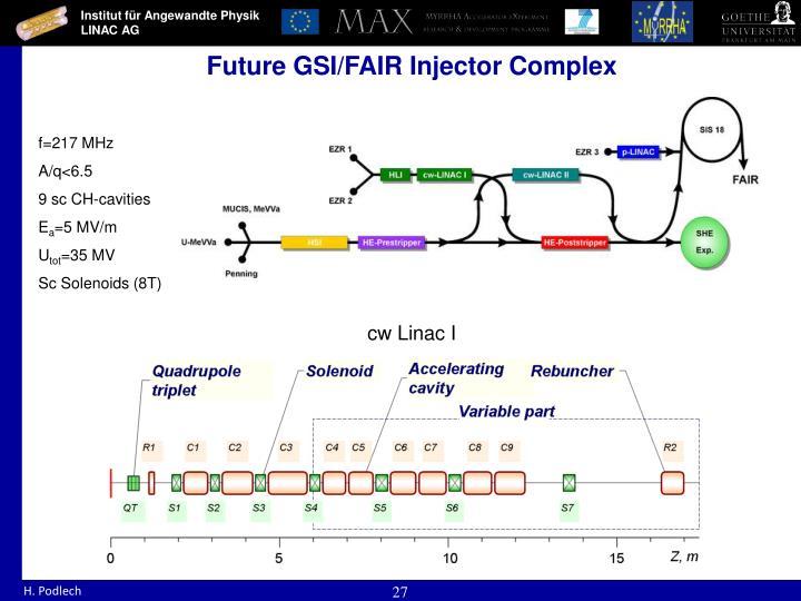 Future GSI/FAIR Injector Complex