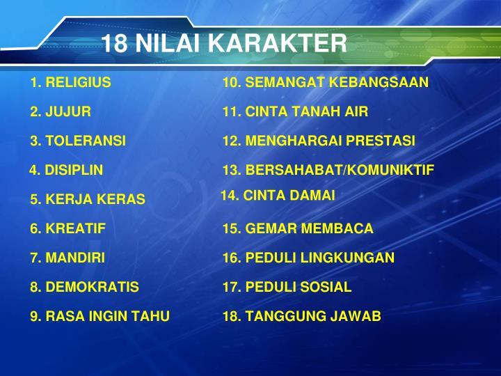 18 NILAI KARAKTER