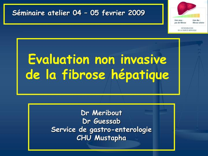 evaluation non invasive de la fibrose h patique n.